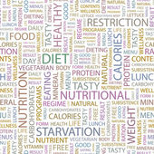 DIET Word collage on white background Illustration with different association terms