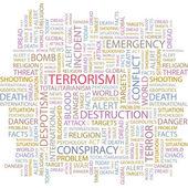 Terorismus. bezešvá vektorová vzorek s slovo mrak