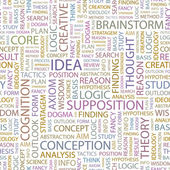 IDEA Seamless vector background Wordcloud illustration
