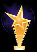 Gold music awards for movie industry designs