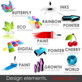 Design elements collection Vector high quality 3d icons