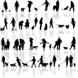 thumbnail of Vector illustration of people with dog