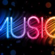 thumbnail of Music Party Abstract Colorful Waves on Black Background