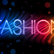 thumbnail of Fashion Abstract Colorful Waves on Black Background