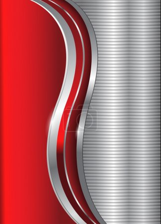 Abstract business background red silver