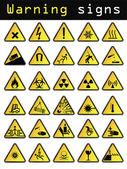Vector warning icons