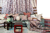 Curtains and pillows