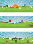 Landscape spring banners