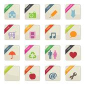 Web button badges