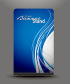 A rolup display with stand banner template design vector illustration