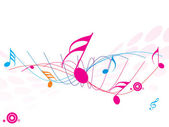 Musical wave of musical notes