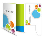 Corporate folder with die cut design best used for your project