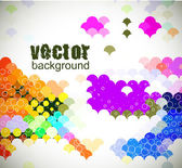 Abstract background from color circle background vector illustration
