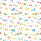 Seamless pattern toy-transport