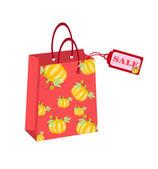 Vektor színes bevásárló táska