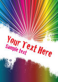 Vector grunge background with copy space for your text Global Swatches Included