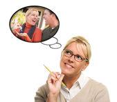 Nő a gondolat buborékok a szerzés a kulcsok-hoz egy új haza