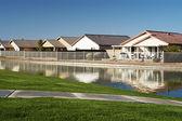 Häuser auf einem Teich 1