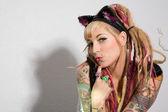 Sexy Girl mit tattoos