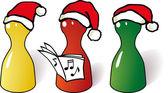 3 weihnachtsmänner