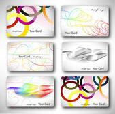 Set of 6 metallic themed business card templates Vector