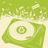 Eco music background vector for poster or card