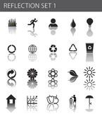 Reflection set 1 - ecology icon set for poster