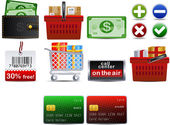 Shoping set of 10 icons