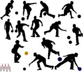 Bowling vector silhouettes