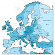 thumbnail of Light blue map of Europe