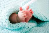 Baby Füße in Decke