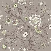 Bezešvá vektorová květinové pozadí