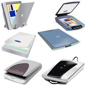 6 different scanners vector illustration images ready for use