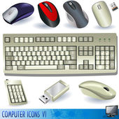A collection of computer icons - keyboard and mouses
