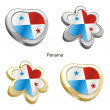 thumbnail of Panama flag in heart and flower shape