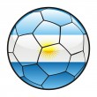 thumbnail of Flag of Argentina on soccer ball