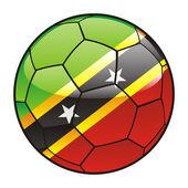 Vector illustration of Saint Kitts and Nevis flag on soccer ball