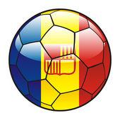 Vector illustration of Andorra flag on soccer ball