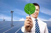Zelená energie podnikatelský koncept