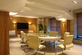 Big meeting room in bright office
