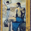 Постер, плакат: Pablo Picasso A Girl on the Ball postage stamp