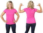 Női üres rózsaszín inget