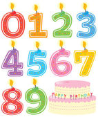 Numbered Candle Set and Cake