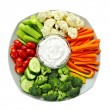thumbnail of Vegetables and dip