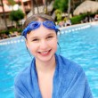thumbnail of Teenage girl at swimming pool