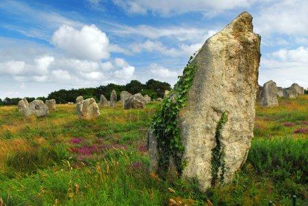 Постер, плакат: Megalithic monuments in Brittany, холст на подрамнике