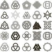Set of symbols icons vector Tattoo design set