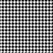 Trendy seamless houndstooth pattern in black and white