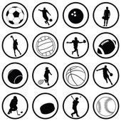 Vector set of various sport icons