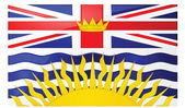 Glossy illustration of the flag of the province of British Columbia Canada